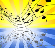 Música da cor Foto de Stock Royalty Free