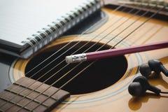 Música da escrita Fotos de Stock