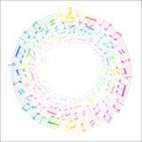Música da nota da música Imagens de Stock Royalty Free