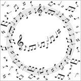 Música da nota da música Foto de Stock