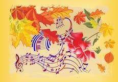 Música da queda, Imagem de Stock