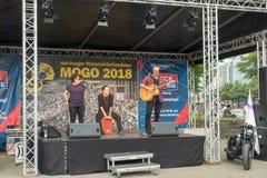 A música da rua de MoGO 35 do festival dos motociclistas Fotos de Stock
