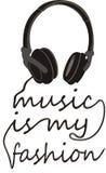 A música da tipografia é minha forma Foto de Stock Royalty Free