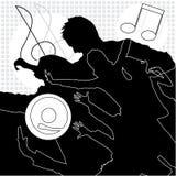 Música, dança e divertimento ilustração do vetor