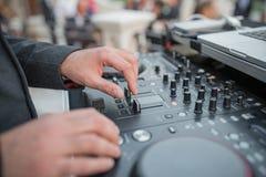 Música das tecnologias do partido do DJ imagens de stock