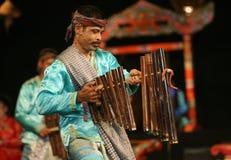 Música de bambú Fotos de archivo