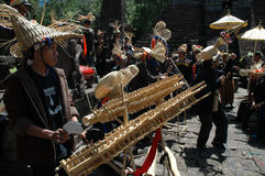 Música de bambú Fotografía de archivo