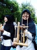Música de bambu Imagens de Stock