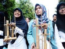 Música de bambu Imagens de Stock Royalty Free