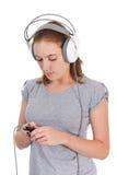 Música de escuta Imagem de Stock Royalty Free