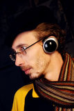 Música de escuta Fotografia de Stock Royalty Free