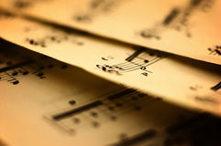 Música de folha Foto de Stock Royalty Free