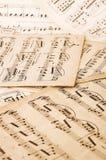 Música de folha Imagens de Stock