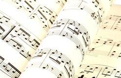 Música de folha Imagens de Stock Royalty Free