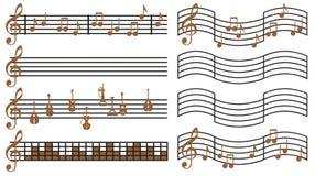 Música de folha Imagem de Stock