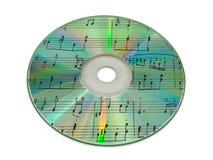 Música de folha no disco compacto Fotografia de Stock