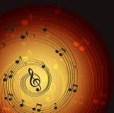 Música de fundo Imagem de Stock Royalty Free