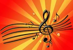 Música de fundo Ilustração Royalty Free