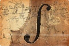 Música de Grunge con el viejo violín Imágenes de archivo libres de regalías