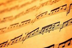 Música de hoja Fotografía de archivo