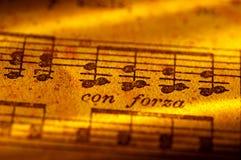 Música de hoja Imagenes de archivo