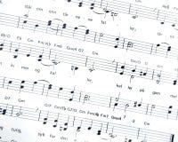 Música de hoja imagen de archivo libre de regalías