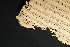 Música de hoja Fotos de archivo libres de regalías