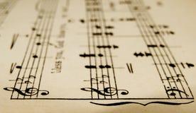 Música de hoja Imagen de archivo