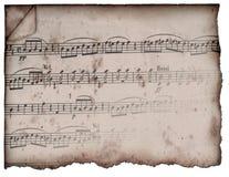 Música de hoja de la vendimia Imagenes de archivo
