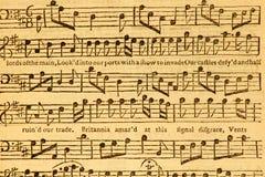 Música de hoja de la vendimia Imagen de archivo libre de regalías