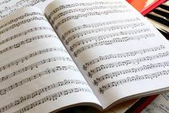 Música de hoja de la vendimia Foto de archivo