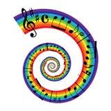 Música de hoja del arco iris Fotos de archivo libres de regalías