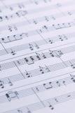 Música de hoja del piano Imagen de archivo libre de regalías