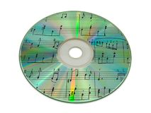 Música de hoja en disco compacto Fotografía de archivo