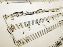 Música de hoja para la flauta y el piano Fotografía de archivo
