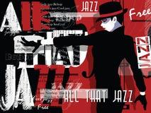 Música de jazz, plantilla del fondo del cartel ilustración del vector