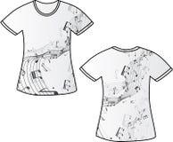 Música de la camiseta ilustración del vector