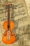 Música de la escritura para el violín Fotos de archivo