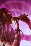 Música de la flauta Fotos de archivo libres de regalías
