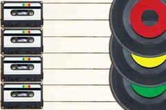 Música de la grabación foto de archivo