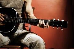 Música de la guitarra foto de archivo libre de regalías