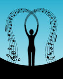 Música de la mujer libre illustration