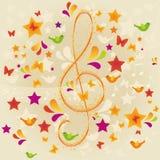Música de la naturaleza stock de ilustración
