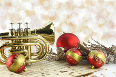 Música de la Navidad Fotografía de archivo