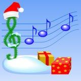 Música de la Navidad Foto de archivo libre de regalías