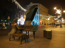 Música de la Navidad en la calle Fotos de archivo libres de regalías