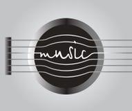Música de la palabra de las secuencias de la guitarra Fotografía de archivo