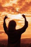 Música de la puesta del sol Foto de archivo libre de regalías