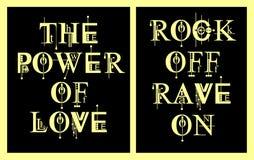 Música de la tipografía del diseño para la camiseta, cartel, vector Foto de archivo