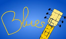 Música de los azules Foto de archivo libre de regalías